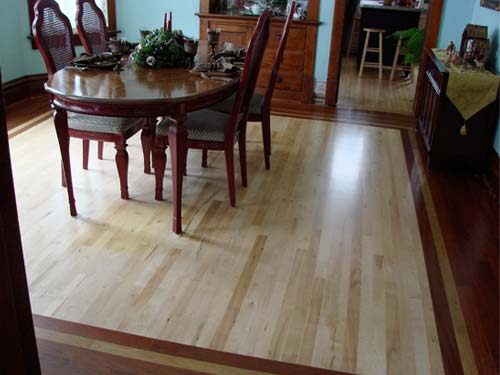 hardwood floor with custom border